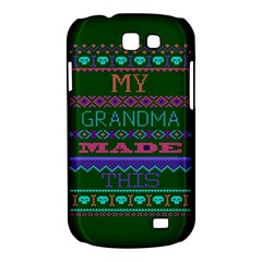 My Grandma Made This Ugly Holiday Green Background Samsung Galaxy Express I8730 Hardshell Case