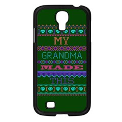 My Grandma Made This Ugly Holiday Green Background Samsung Galaxy S4 I9500/ I9505 Case (Black)