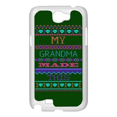 My Grandma Made This Ugly Holiday Green Background Samsung Galaxy Note 2 Case (White)
