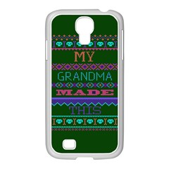 My Grandma Made This Ugly Holiday Green Background Samsung GALAXY S4 I9500/ I9505 Case (White)