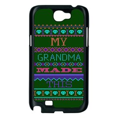 My Grandma Made This Ugly Holiday Green Background Samsung Galaxy Note 2 Case (Black)
