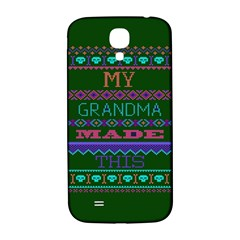 My Grandma Made This Ugly Holiday Green Background Samsung Galaxy S4 I9500/I9505  Hardshell Back Case