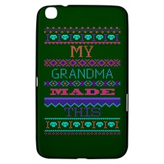 My Grandma Made This Ugly Holiday Green Background Samsung Galaxy Tab 3 (8 ) T3100 Hardshell Case