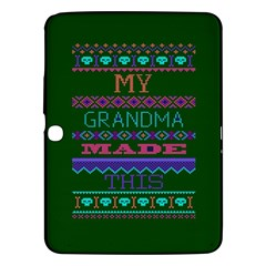 My Grandma Made This Ugly Holiday Green Background Samsung Galaxy Tab 3 (10.1 ) P5200 Hardshell Case