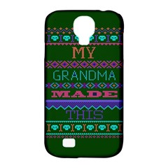 My Grandma Made This Ugly Holiday Green Background Samsung Galaxy S4 Classic Hardshell Case (PC+Silicone)