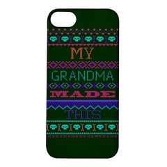 My Grandma Made This Ugly Holiday Green Background Apple iPhone 5S/ SE Hardshell Case