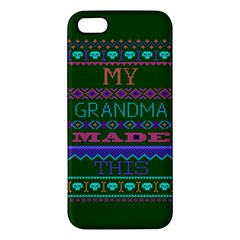 My Grandma Made This Ugly Holiday Green Background iPhone 5S/ SE Premium Hardshell Case