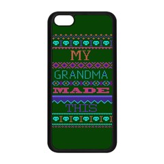 My Grandma Made This Ugly Holiday Green Background Apple iPhone 5C Seamless Case (Black)