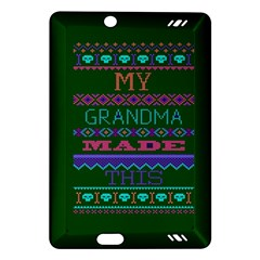 My Grandma Made This Ugly Holiday Green Background Amazon Kindle Fire HD (2013) Hardshell Case
