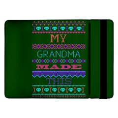 My Grandma Made This Ugly Holiday Green Background Samsung Galaxy Tab Pro 12.2  Flip Case