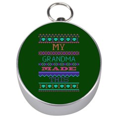 My Grandma Made This Ugly Holiday Green Background Silver Compasses