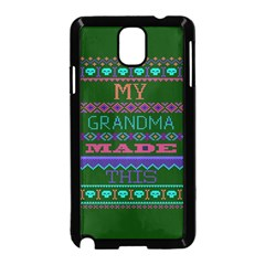My Grandma Made This Ugly Holiday Green Background Samsung Galaxy Note 3 Neo Hardshell Case (Black)