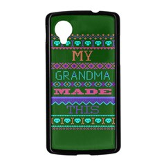 My Grandma Made This Ugly Holiday Green Background Nexus 5 Case (Black)