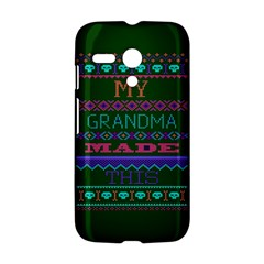 My Grandma Made This Ugly Holiday Green Background Motorola Moto G