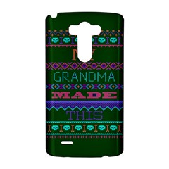 My Grandma Made This Ugly Holiday Green Background LG G3 Hardshell Case