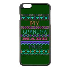 My Grandma Made This Ugly Holiday Green Background Apple iPhone 6 Plus/6S Plus Black Enamel Case