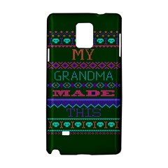 My Grandma Made This Ugly Holiday Green Background Samsung Galaxy Note 4 Hardshell Case