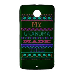 My Grandma Made This Ugly Holiday Green Background Nexus 6 Case (White)