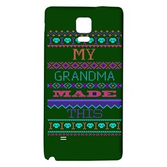 My Grandma Made This Ugly Holiday Green Background Galaxy Note 4 Back Case
