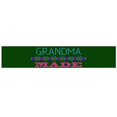 My Grandma Made This Ugly Holiday Green Background Flano Scarf (Large)