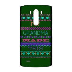 My Grandma Made This Ugly Holiday Green Background LG G3 Back Case