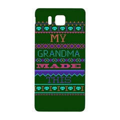 My Grandma Made This Ugly Holiday Green Background Samsung Galaxy Alpha Hardshell Back Case