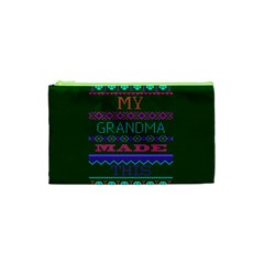 My Grandma Made This Ugly Holiday Green Background Cosmetic Bag (XS)