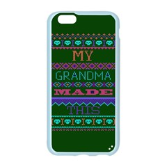 My Grandma Made This Ugly Holiday Green Background Apple Seamless iPhone 6/6S Case (Color)