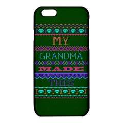 My Grandma Made This Ugly Holiday Green Background iPhone 6/6S TPU Case