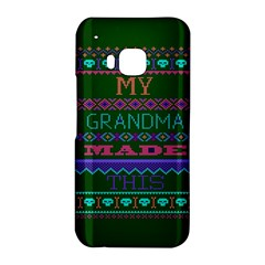 My Grandma Made This Ugly Holiday Green Background HTC One M9 Hardshell Case