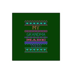 My Grandma Made This Ugly Holiday Green Background Satin Bandana Scarf