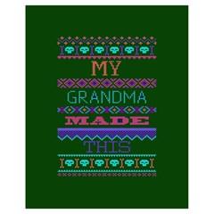 My Grandma Made This Ugly Holiday Green Background Drawstring Bag (Small)