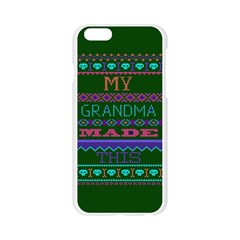 My Grandma Made This Ugly Holiday Green Background Apple Seamless iPhone 6/6S Case (Transparent)