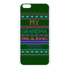 My Grandma Made This Ugly Holiday Green Background Apple Seamless iPhone 6 Plus/6S Plus Case (Transparent)