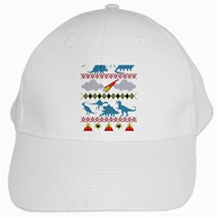 My Grandma Likes Dinosaurs Ugly Holiday Christmas White Cap