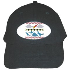 My Grandma Likes Dinosaurs Ugly Holiday Christmas Black Cap