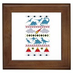 My Grandma Likes Dinosaurs Ugly Holiday Christmas Framed Tiles