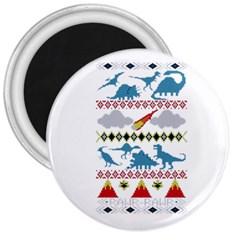 My Grandma Likes Dinosaurs Ugly Holiday Christmas 3  Magnets