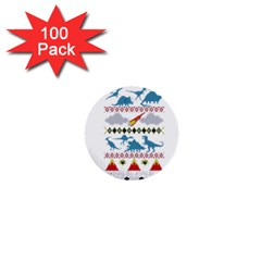 My Grandma Likes Dinosaurs Ugly Holiday Christmas 1  Mini Buttons (100 pack)