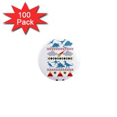 My Grandma Likes Dinosaurs Ugly Holiday Christmas 1  Mini Magnets (100 pack)
