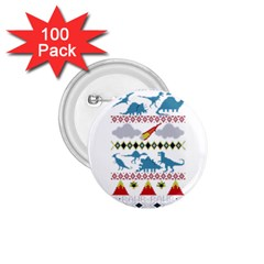 My Grandma Likes Dinosaurs Ugly Holiday Christmas 1.75  Buttons (100 pack)