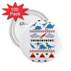 My Grandma Likes Dinosaurs Ugly Holiday Christmas 2.25  Buttons (100 pack)