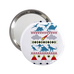 My Grandma Likes Dinosaurs Ugly Holiday Christmas 2.25  Handbag Mirrors