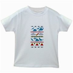 My Grandma Likes Dinosaurs Ugly Holiday Christmas Kids White T-Shirts