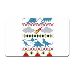 My Grandma Likes Dinosaurs Ugly Holiday Christmas Magnet (Rectangular)