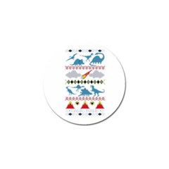 My Grandma Likes Dinosaurs Ugly Holiday Christmas Golf Ball Marker (4 pack)