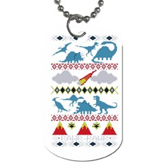 My Grandma Likes Dinosaurs Ugly Holiday Christmas Dog Tag (Two Sides)