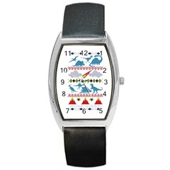My Grandma Likes Dinosaurs Ugly Holiday Christmas Barrel Style Metal Watch