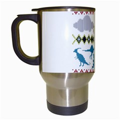 My Grandma Likes Dinosaurs Ugly Holiday Christmas Travel Mugs (White)