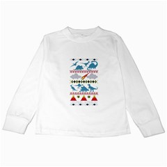 My Grandma Likes Dinosaurs Ugly Holiday Christmas Kids Long Sleeve T-Shirts